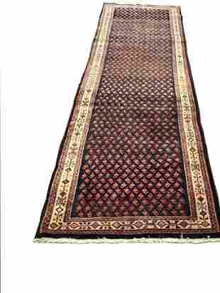 Persian mir 996 style vitage wool rug pile hand