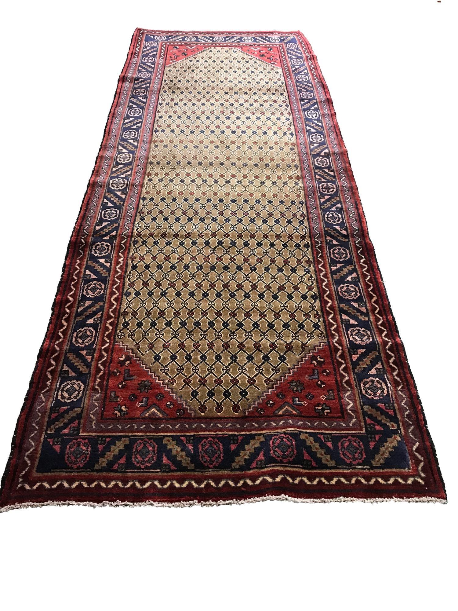 Persian tabriz mo344/584 rug wool pile vintage hand