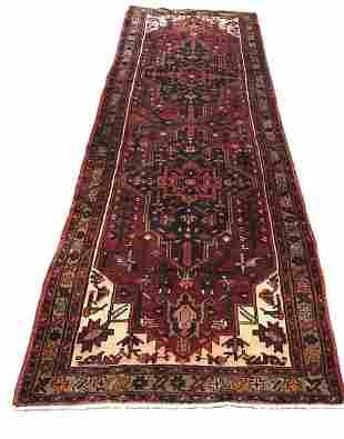 Persian kazak 745 rug wool pile vintage hand knotted