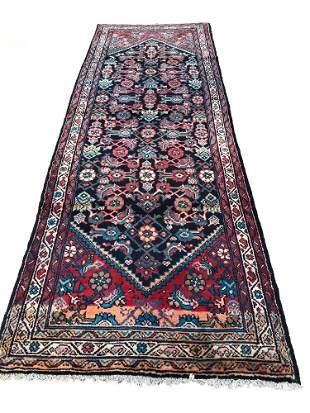 Persian bijar 139 rug wool pile vintage hand knotted