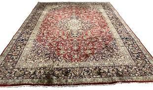 Persian kashan 1770 rug wool pile vintage hand knotted
