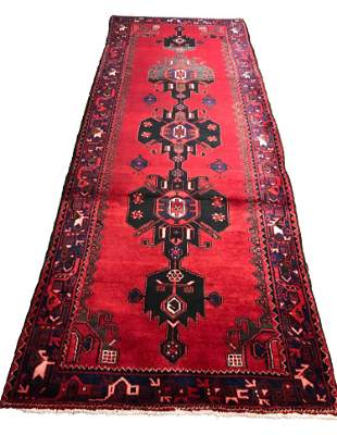Persian serapi 1521 rug wool pile vintage hand knotted