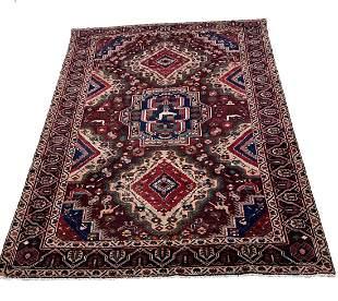 Persian Kashkuli 202 rug wool pile vintage