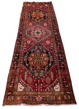 Wool Hand knotted Kashkuli m201 Persian antique rug