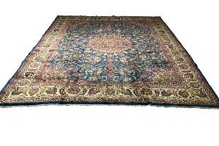 Wool Hand knotted Isfahan 1426 vintage Persian rug