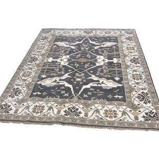 Persian OUSHAK 22 style rug wool mint condition hand
