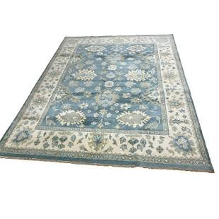 Persian Oushak 34 style rug wool mint condition hand