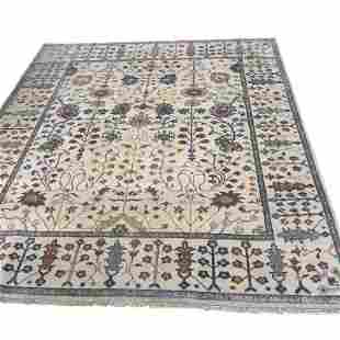 Persian oushak 215 style mint condition rug wool hand