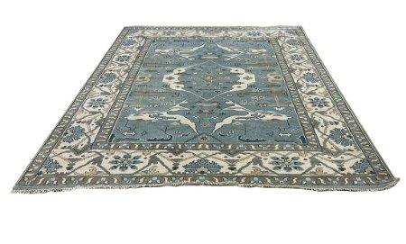 persian oushak d138 geometric  style rug wool pile