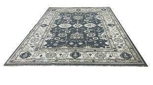 oushak d135 style rug wool pile vintage hand knotted
