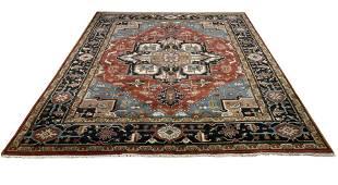 Persian serapi d143 style rug wool pile vintage hand