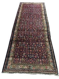 Persian bijar 675a style rug wool pile vintage hand