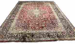 Persian Kashan 1770 style rug wool pile vintage hand
