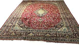 mashad 1303 rug wool pile vintage hand knotted