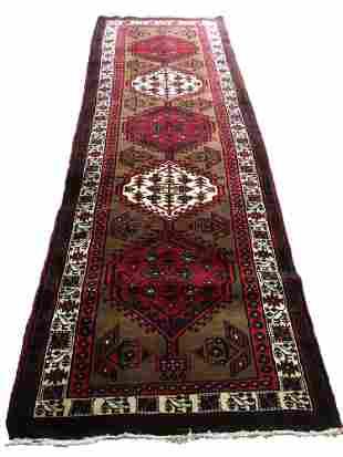Persian tabriz er144 style rug wool pile vintage hand