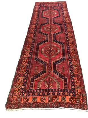 Persian serapi 696 style rug wool pile vintage hand