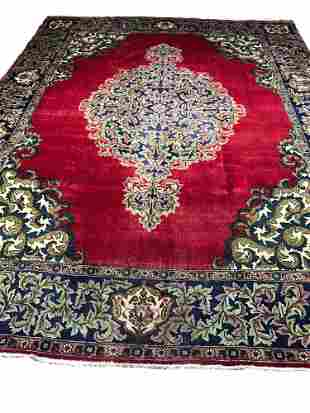 Persian tabriz kh97 style rug wool pile hand knotted