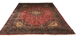 Persian mashad 8518 hand knotted wool rug