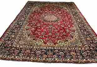 Persian isfahan 1391 style rug wool pile hand knotted