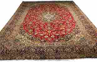 Persian kashan 1806 style rug wool pile hand knotted