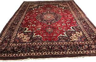 Persian mashad 1142/65 style rug wool pile vintage hand