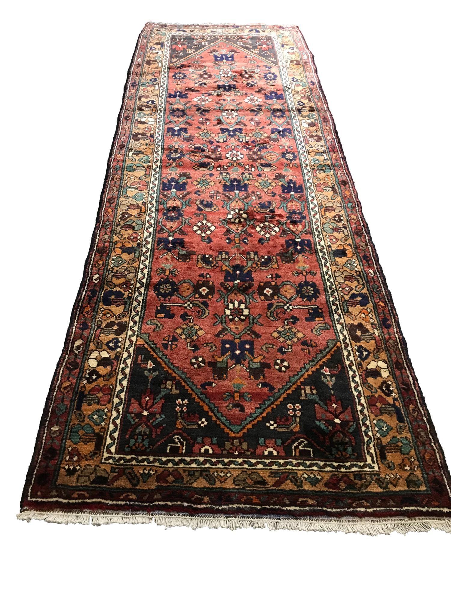 Persian kashan kh2401 fine antique wool pile rug hand