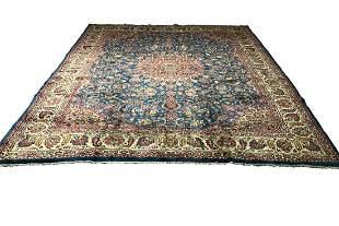 Persian isfahan 1426 style rug wool vintage hand