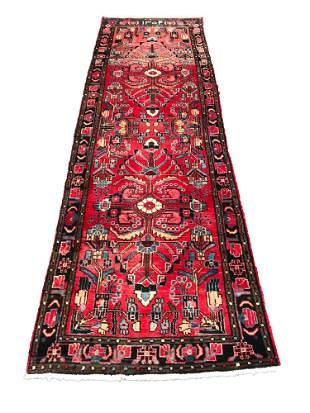 Persian heriz 4013 style rug wool pile vintage hand