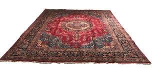 Persian mashad 89424 style rug wool pile vintage hand