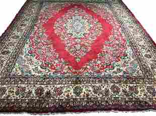 Persian kerman 750a rug wool pile vintage hand knotted