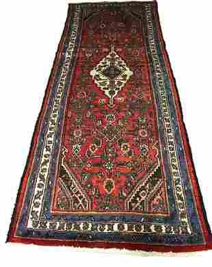Persian bijar 1280 runner rug rug wool pile vintage