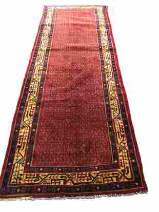 Persian mir 73 rug wool pile vintage hand knotted in