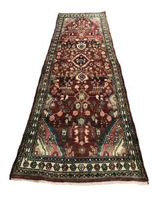 Persian tabriz mo410 style rug wool pile vintage hand