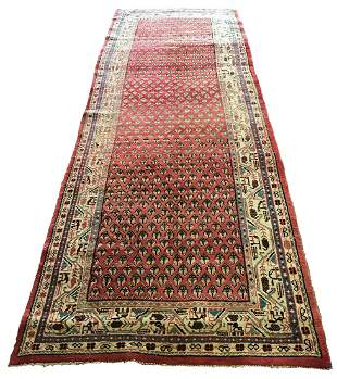 Persian mir 1886 style rug wool pile vintage hand