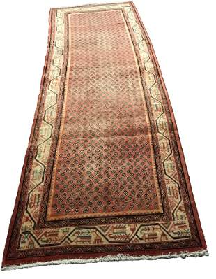 Persian mir 411a rug wool pile vintage hand knotted IN