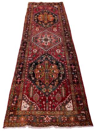 Persian kashkuli m201 rug wool pile vintage hand