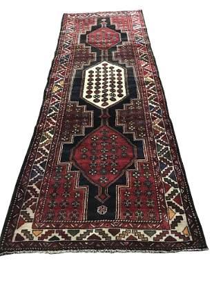 Persian kazak 1358 rug wool pile vintage hand knotted