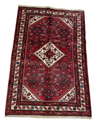 Persian bijar 310a rug wool pile vintage hand knotted