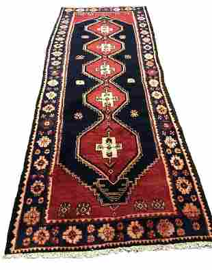 Persian serapi 1293 rug wool pile vintage hand knotted