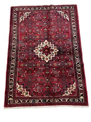 Persian bijar 311 rug wool pile vintage hand knotted