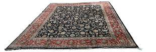 Persian mashad 28 rug wool pile vintage hand knotted