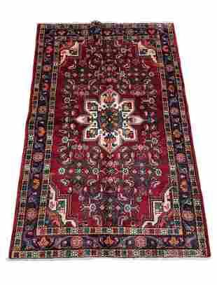 Persian bijar 314 rug wool pile vintage hand knotted