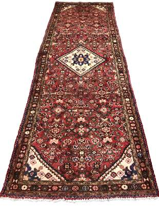 Persian bijar 38a rug wool pile vintage hand knotted