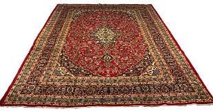 Persian kashan 1259 rug wool pile vintage hand knotted