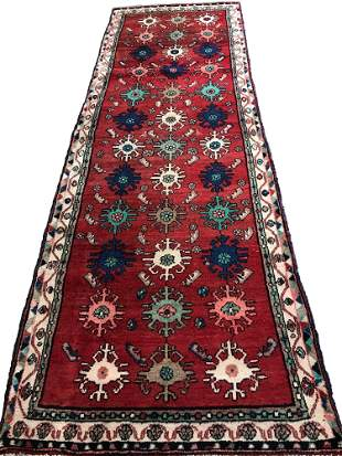 Persian kashan mo598 rug wool pile vintage hand knotted