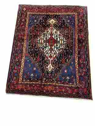 Persian bijar 308 rug wool pile vintage hand knotted