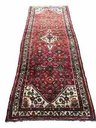 Persian bijar 407 rug wool pile vintage hand knotted
