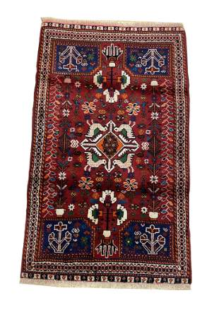 Persian tabriz 302a rug wool pile vintage hand knotted