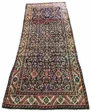 Persian bijar 464a rug wool pile vintage hand knotted