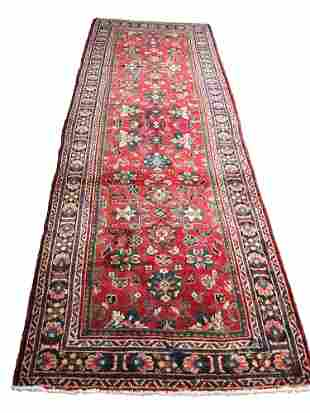 Persian mahal 1064 rug wool pile vintage hand knotted